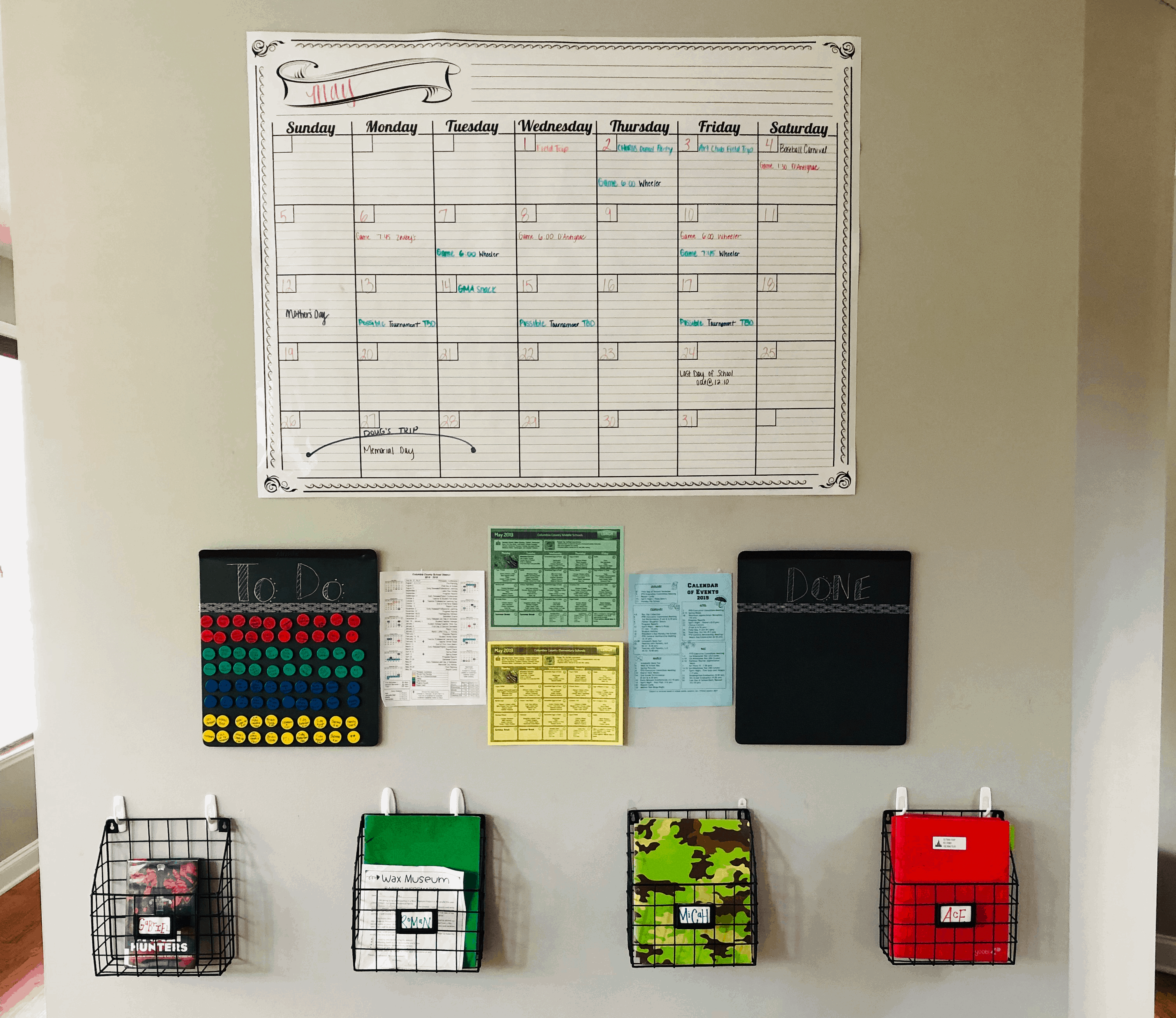 my kitchen family command center