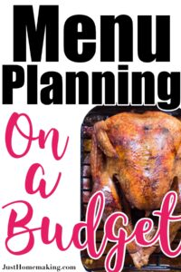pin for pinterest: menu planning on a budget