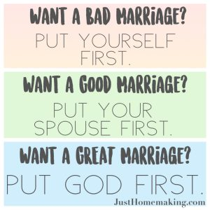 for a great marriage put God first, then your spouse, and yourself last