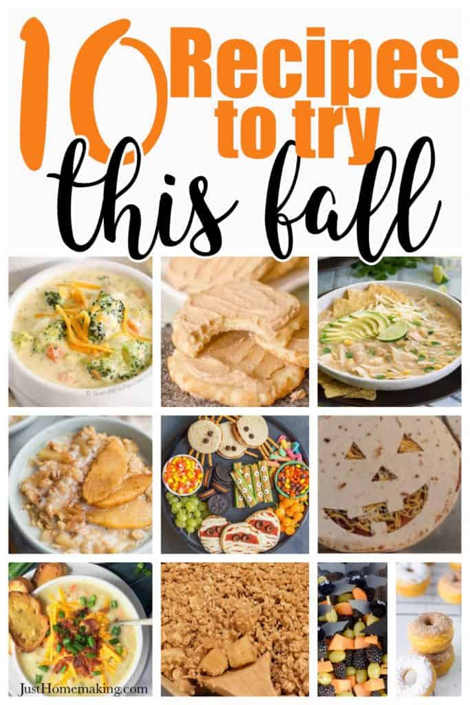 Pin: 10 Recipes to Try this Fall
