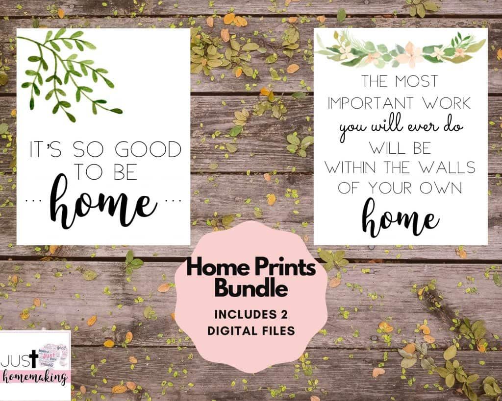 simple homemaking printables