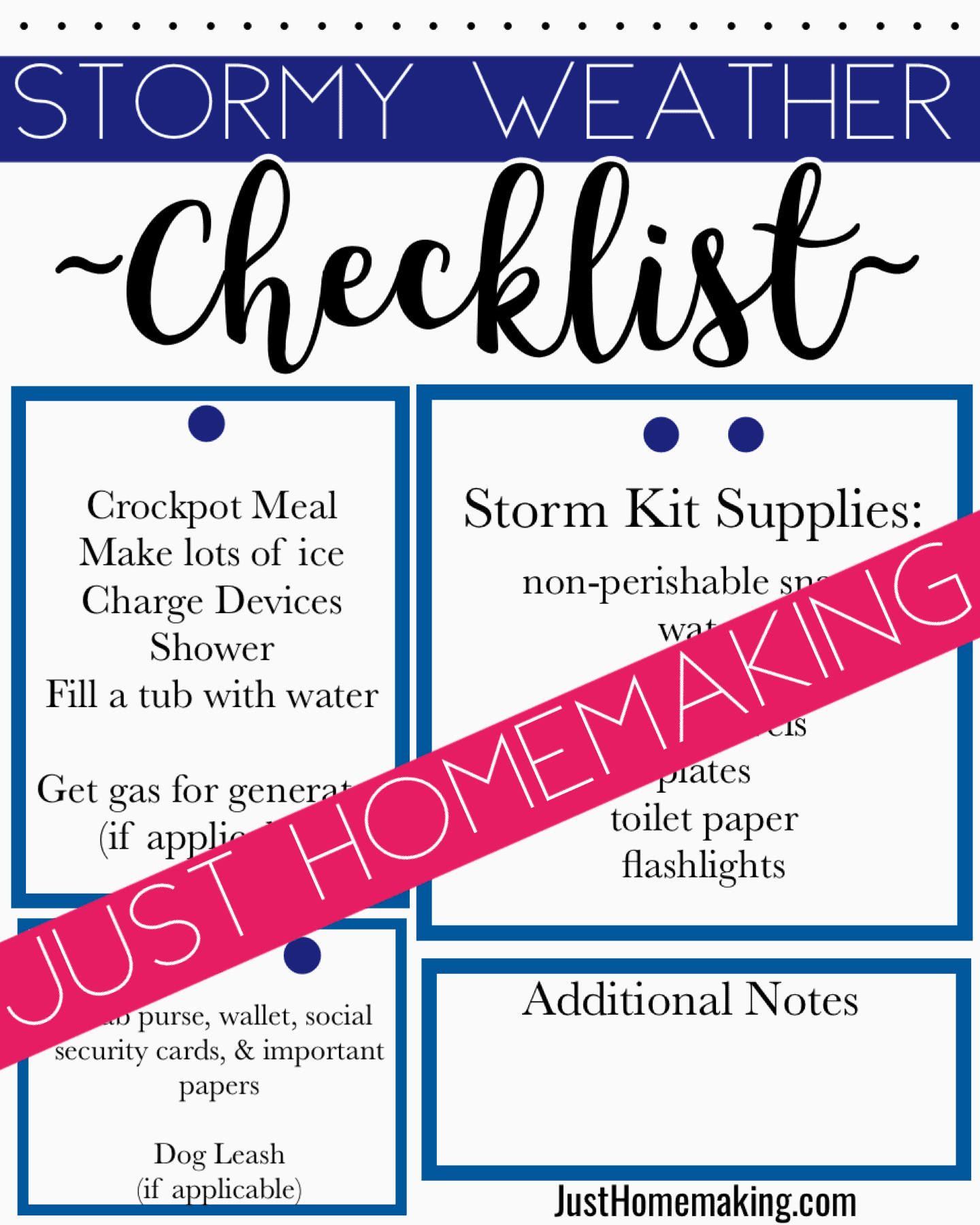 Storm Readiness Checklist