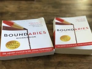 Boundaries book and Boundaries workbook by Cloud and Townsend