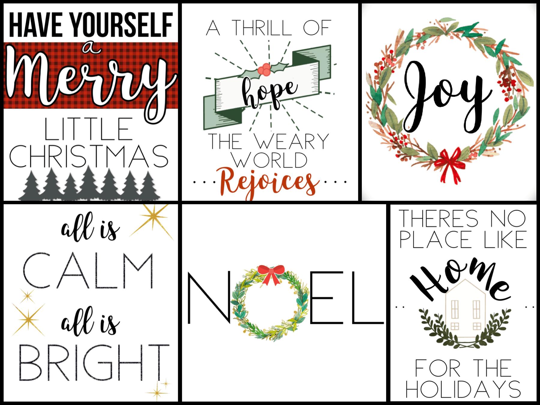 Christmas Wall Decor printables