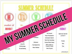 printable summer schedule example