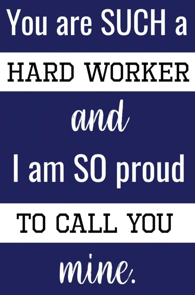 you are a hard worker text message