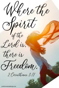 """2 Corinthians 3:17 quote: """"Where the spirit of the Lord is there is Freedom."""""""