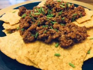 Gf Sloppy Joe's on Tortilla Chips