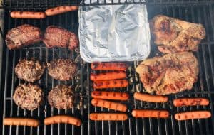 Grilling out food