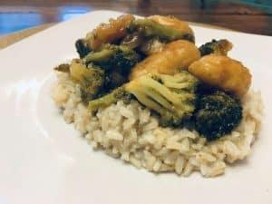 Gf df General Tso's Chicken on Rice