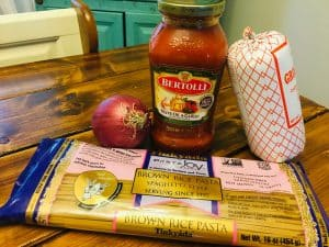 Gluten free dairy free spaghetti ingredients