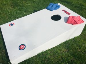 Bean bag toss outdoor game for date night at home