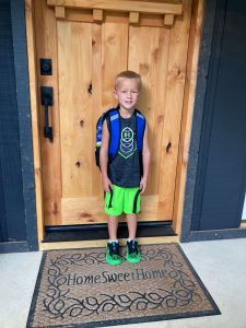 My youngest child on the first day of school