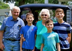 Kids enjoying a visit with their grandparents on the family sabbath
