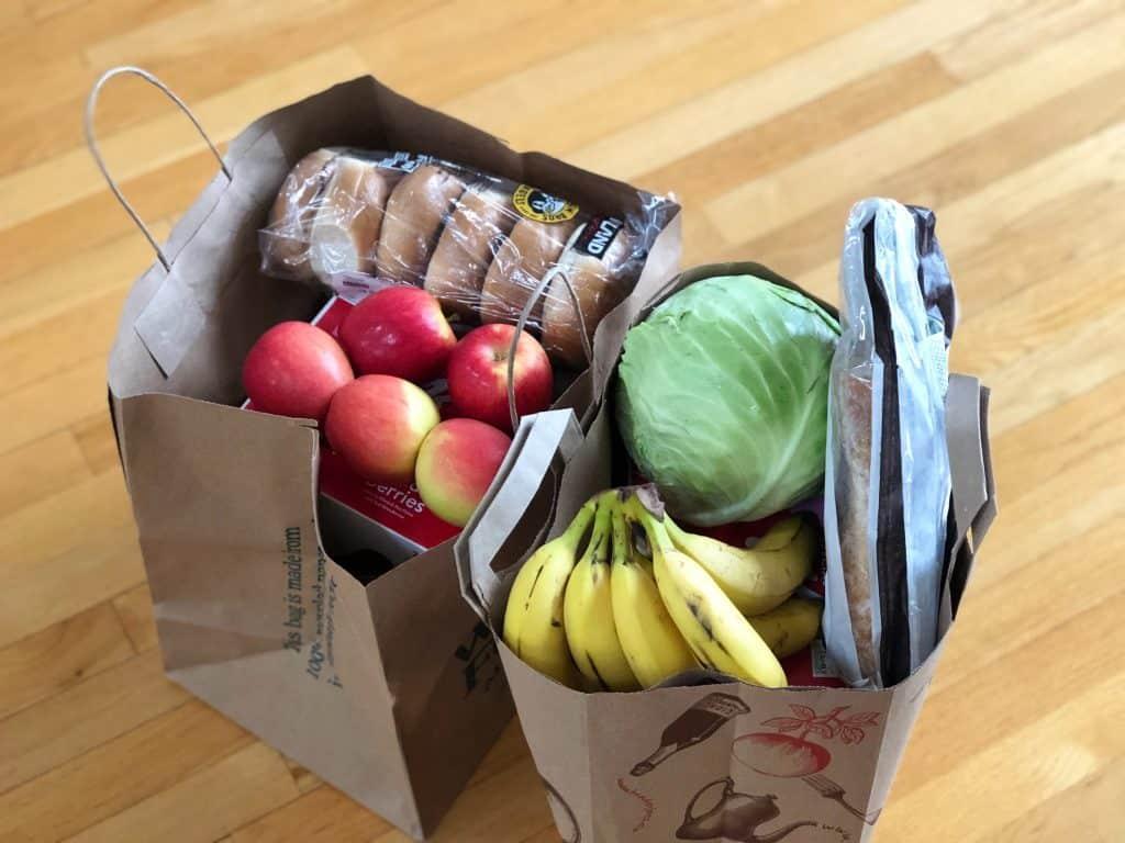 2 bags of groceries